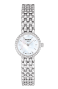 Tissot T-Ladies Lovely Women's Quartz Diamond White Mother of Pearl Dial Watch With Stainless Steel Bracelet