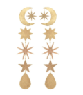 We Dream In Colour Gold Magic Hour Earrings