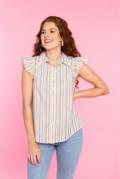 Crosby by Mollie Burch Mitchell Top Safari Stripe XL