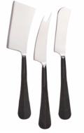 Simon Pearce Woodbury Black Cheese Knife Set