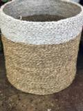 55 Large Seagrass Painted Basket