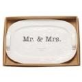 Mud Pie Platter Mr & Mrs 2018