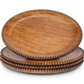GG Collection Charger - Wood Beaded