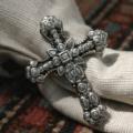 $67.00 Napkin Ring - Cross (set of 4)
