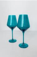 Estelle Colored Glass Wine Teal (Set/2)