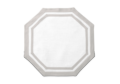$207.00 Casual Couture octagonal Placemat Set/4 Grey