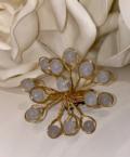 25 Gray Beaded Napkin Rings