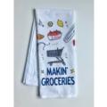 17 Home Malone Makin' Groceries Tea Towel