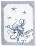"""Abbiamo Tutto  Kitchen Towel Octopus - Blue 31"""" x 22.5"""" 100% cotton"""