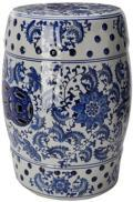 375 Blue and White Garden Stool