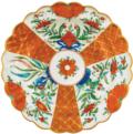 Vieuxtemps Exclusives Orange Floral Caspari Placemat Set of 4