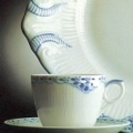 Royal Copenhagen Princess Blue Creamer
