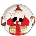 Handled Round Platter w/ Lamb