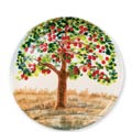 Vietri Wall Plate Apple Tree Round Wall Plate