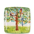 Vietri Wall Plate Birds Square Wall Plate