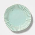 VIETRI Incanto Stone Aqua Stripe Salad Plate