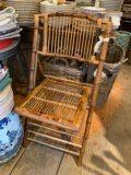 William-Wayne & Co. Exclusives Bamboo Folding Chair