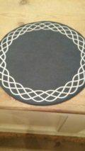 $37.50 Navy Vinyl Mats w/ White Braid