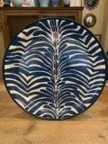 $225.00 Blue Zebra Hand Painted Tole Tray