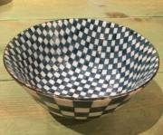 William-Wayne & Co. Exclusives Blue and White Japanese Checkered Bowl.