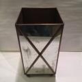 $195.00 Crossed Mirror Wastebasket
