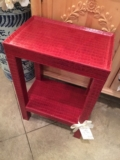 William-Wayne & Co. Exclusives Red Leather Side Table