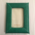 $110.00 4 x 6 Green Leather Frame