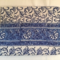 William-Wayne & Co. Exclusives Blue & White Indian Throw/Tablecloth