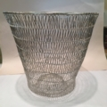 William-Wayne & Co. Exclusives Small Silver Wired Wastebasket