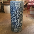 $375.00 Blue and White Porcelain Umbrella Stand