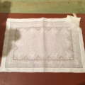 $22.50 Embroidered Linen Placemat