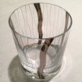$40.00 Bar Glass with Silver Detailing