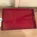 William-Wayne & Co. Exclusives Red Lacquer Tray