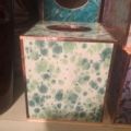 $80.00 Green Marble Paper Tissue Box
