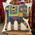 William-Wayne & Co. Exclusives Embroidered Elephant Pillow