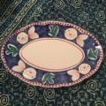 325 Vintage Hand Painted Fish Italian Pottery Platter