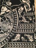 William-Wayne & Co. Exclusives Indian Throw/Tablecloth Fish Black and White