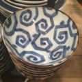 $25.00 Large Geometric Blue and White Bowl