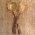 William-Wayne & Co. Exclusives Horn Salad Servers