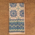 $12.50 Blue and Green Dinner Napkin
