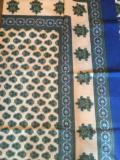 47.5 Indian Throw/Tablecloth Buti Green/Blue