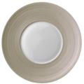 Hemisphere Green Beige Large Center Salad Plate