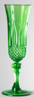 Green Champagne Flute