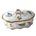 Small Oval Ruffled Trinket Box