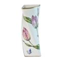 Pink Tulip Triangular Vase