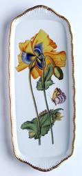 Sandwich Tray w/ Large Yellow Flower
