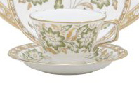 Green Panel Accent Tea Cup