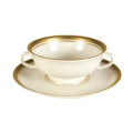 Palace Cream Soup Bowl & Saucer